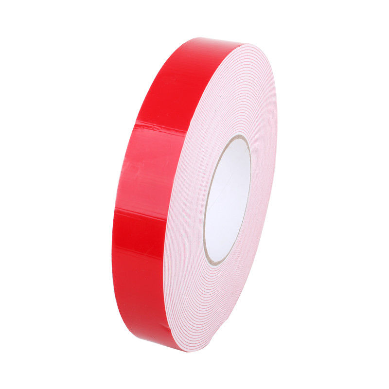 Automotive PE Foam Tape , Anti Water Red Double Sided Tape For Car Signage